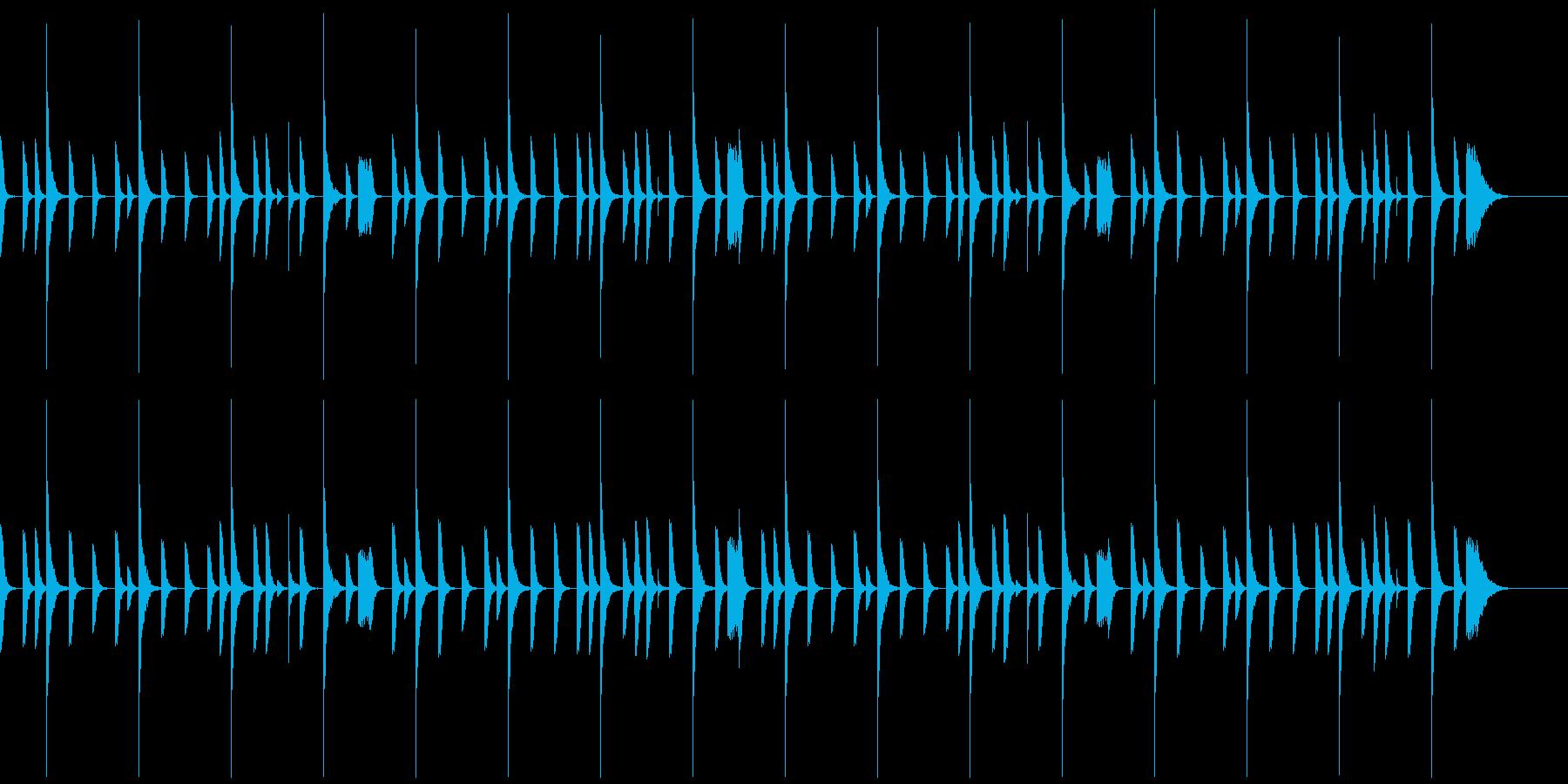 レゲエのリズムパターン1の再生済みの波形