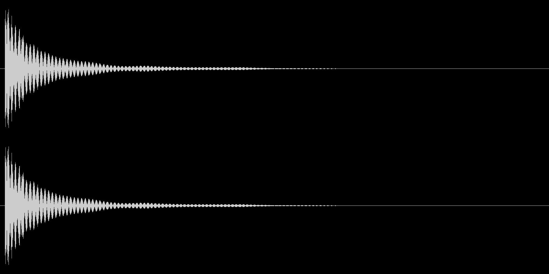ポョォンーの未再生の波形