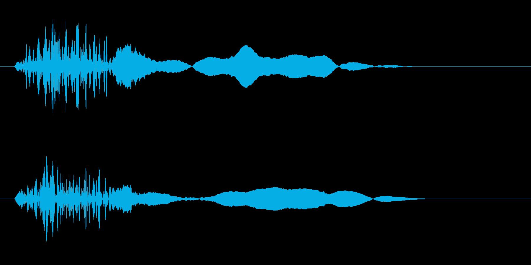 ざっ(勢いよく空気を切り裂く音)の再生済みの波形