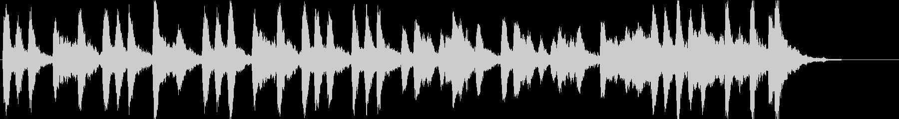 弦とベルのシンプルなBGM。企業VP等にの未再生の波形