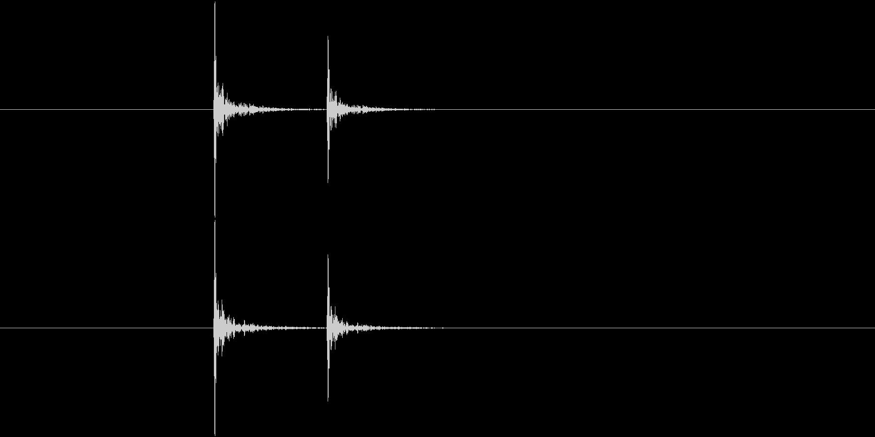 コンコンというドアノック音(2回)の未再生の波形