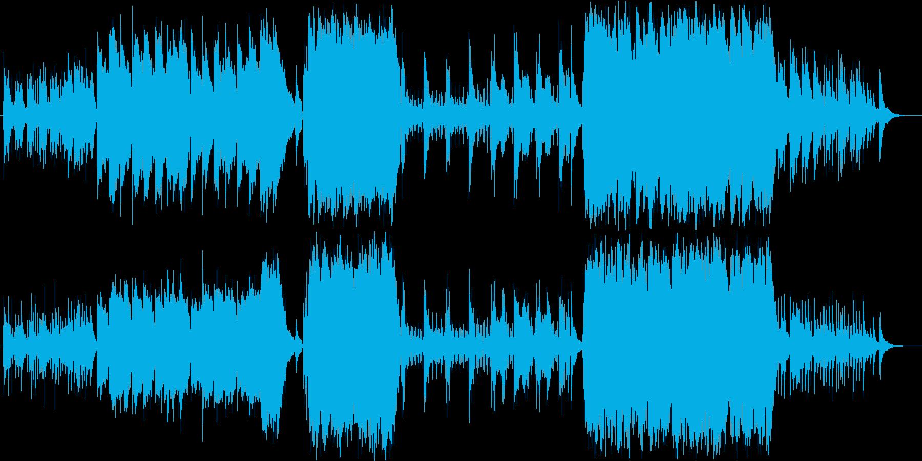 ジブリっぽい森をイメージしたオケ作品の再生済みの波形