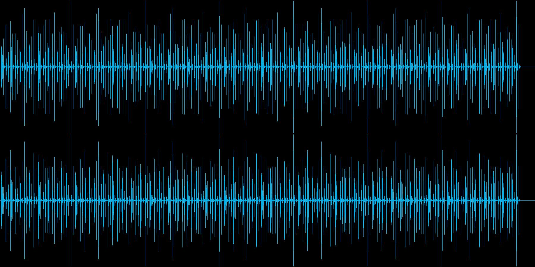 クイズ番組で思案中のようなBGMの再生済みの波形