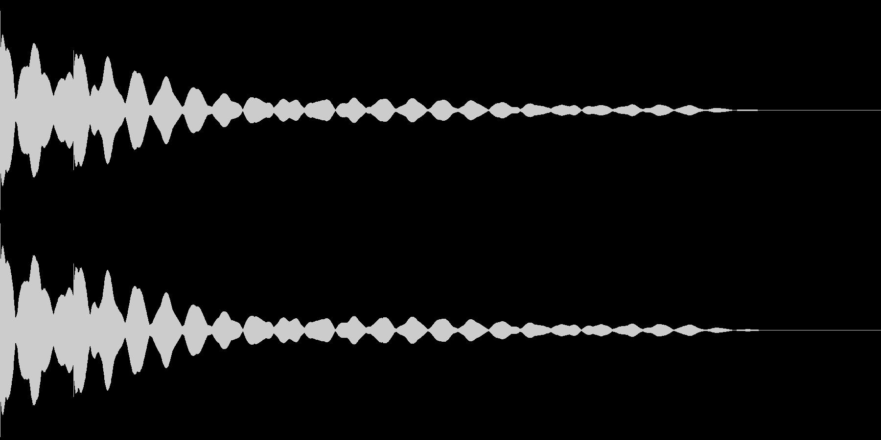 チーンチーン 仏壇の鐘の音2の未再生の波形