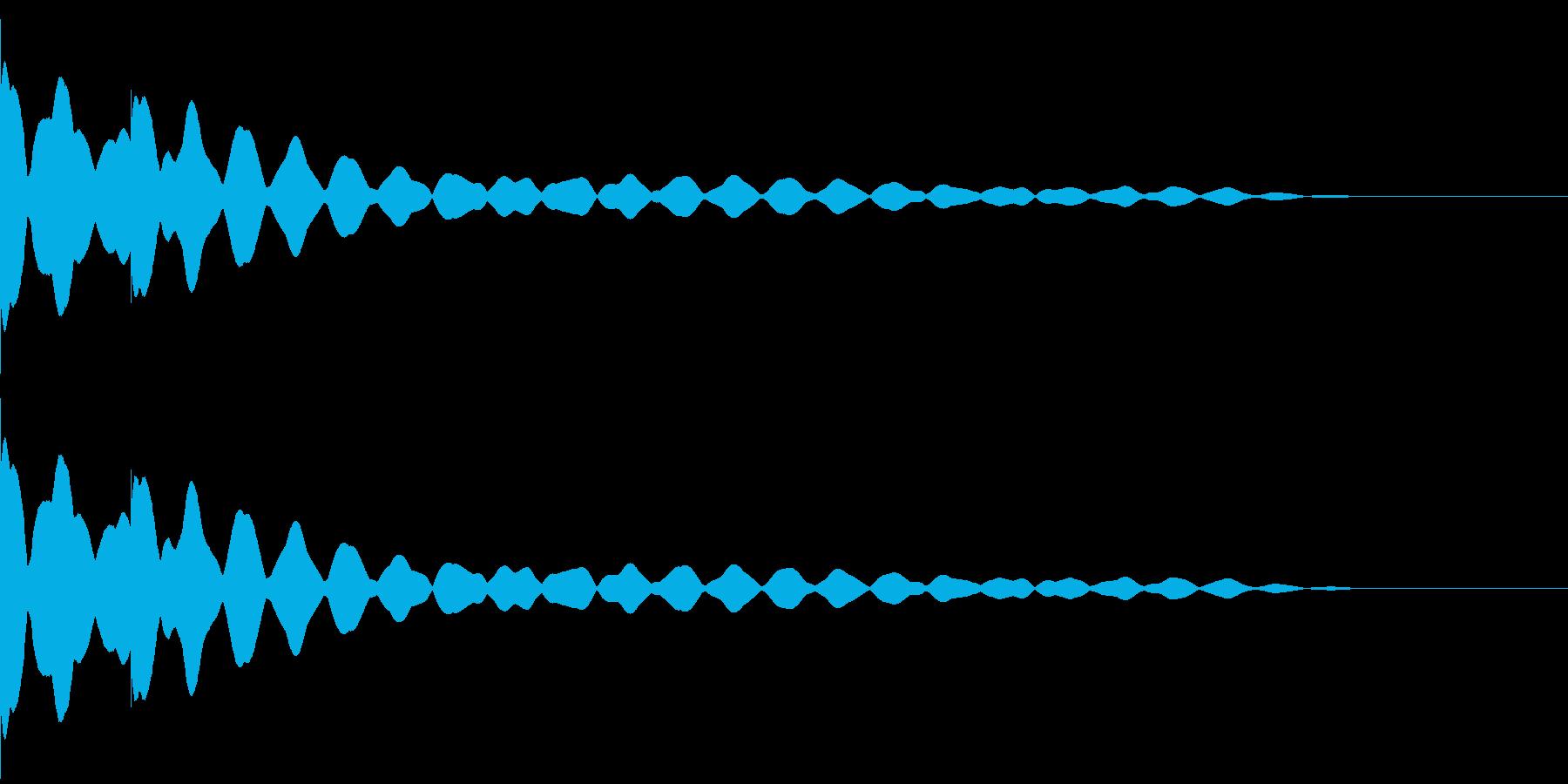 チーンチーン 仏壇の鐘の音2の再生済みの波形