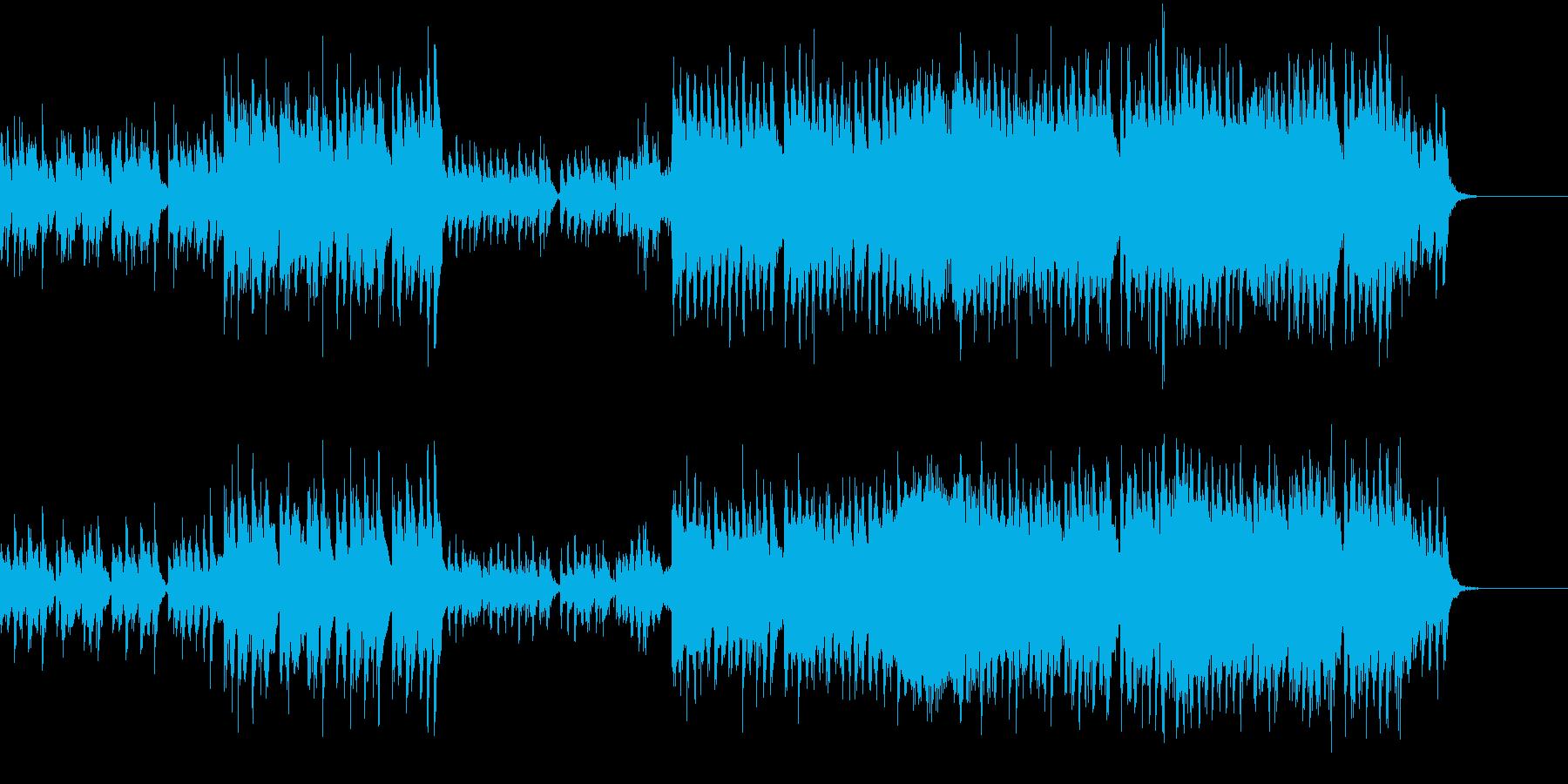 ご機嫌な気持ちを感じさせるBGMの再生済みの波形