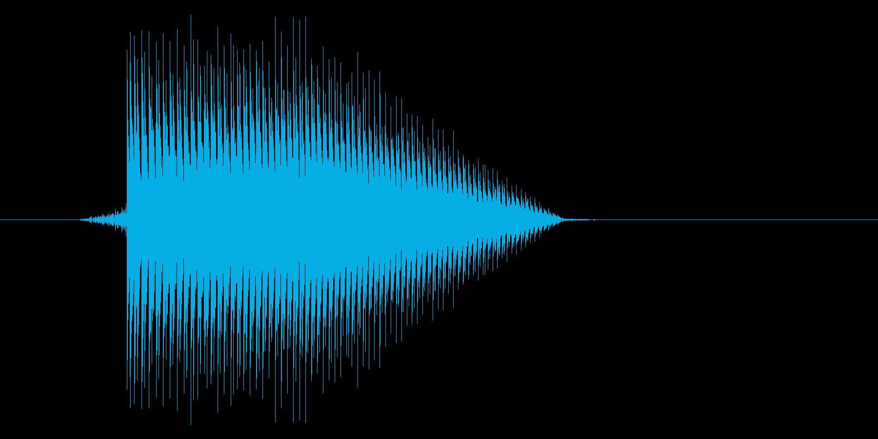 ゲーム(ファミコン風)ジャンプ音_021の再生済みの波形