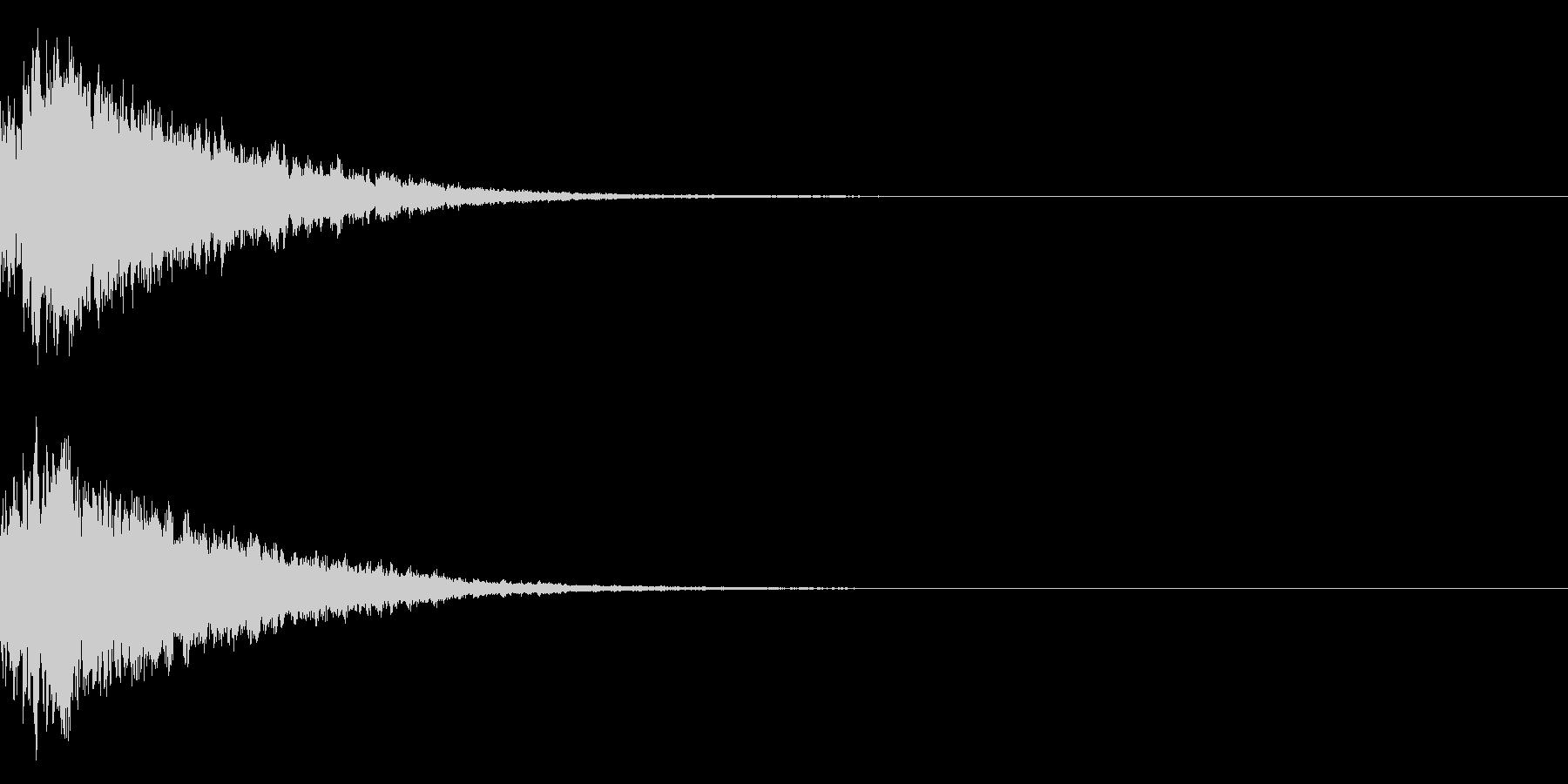 キラキラ光る☆テロップ音 ボタン音 4cの未再生の波形
