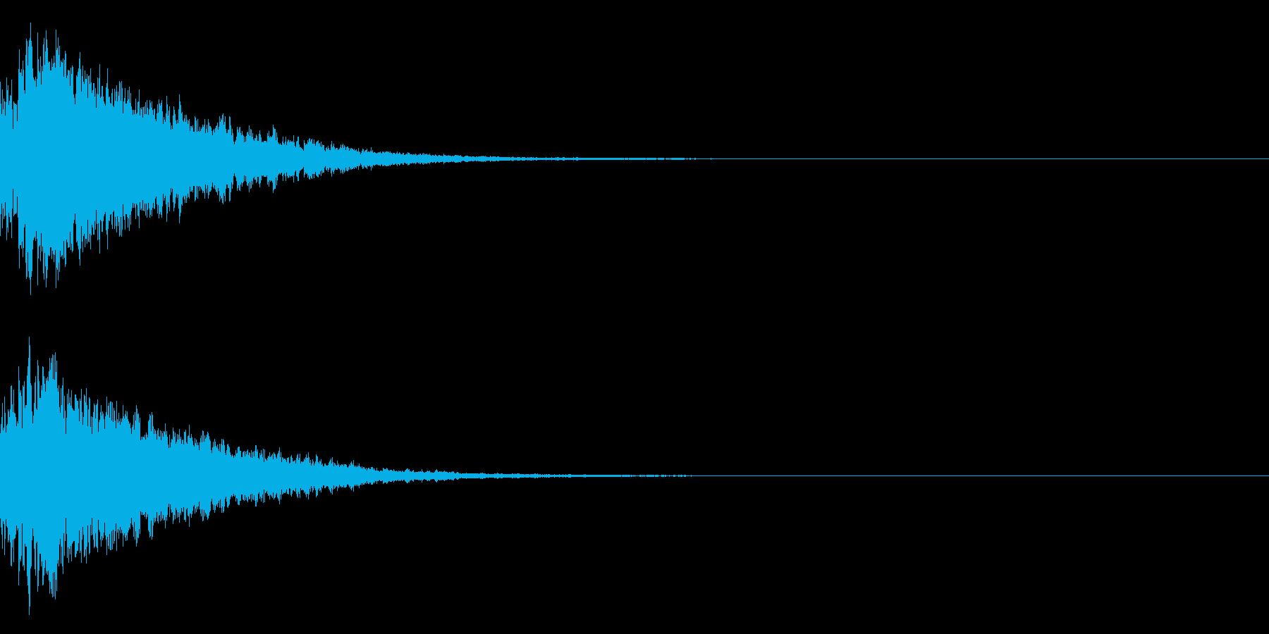 キラキラ光る☆テロップ音 ボタン音 4cの再生済みの波形