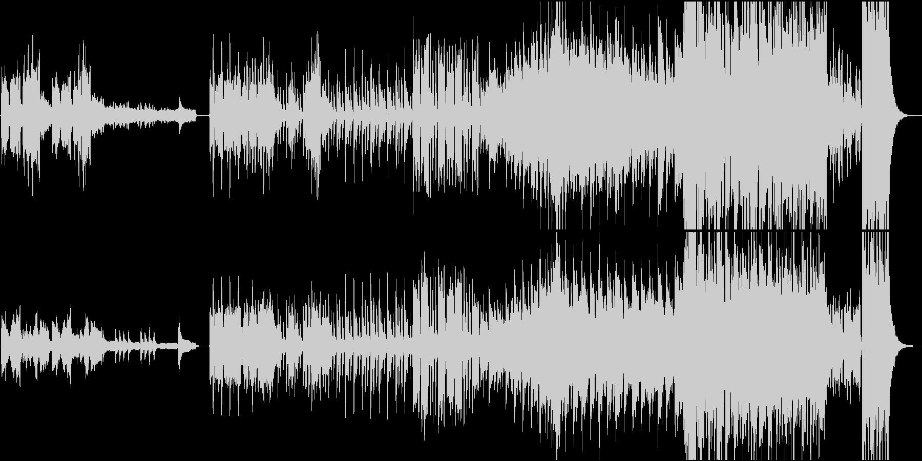 不思議なワルツの未再生の波形