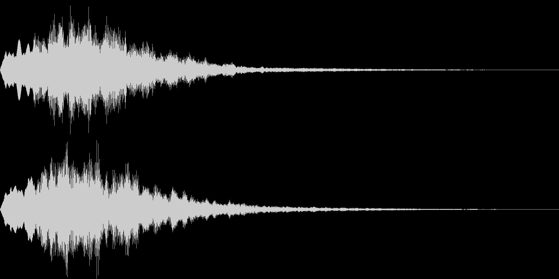 Level 短めのレベルアップSE 3の未再生の波形