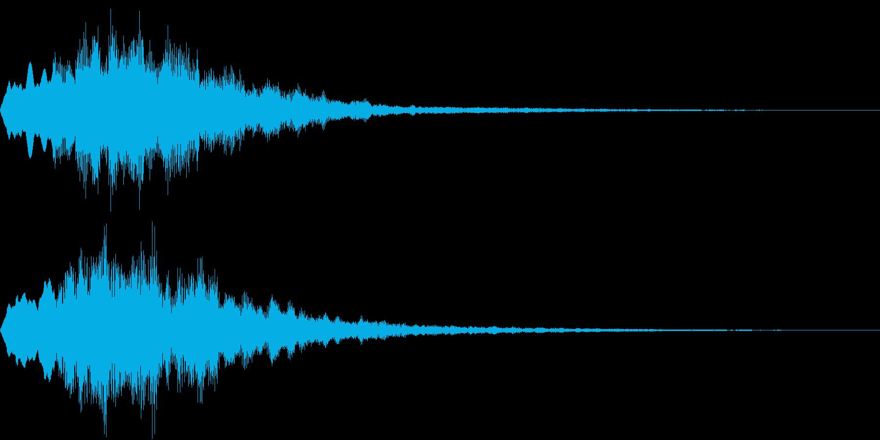Level 短めのレベルアップSE 3の再生済みの波形