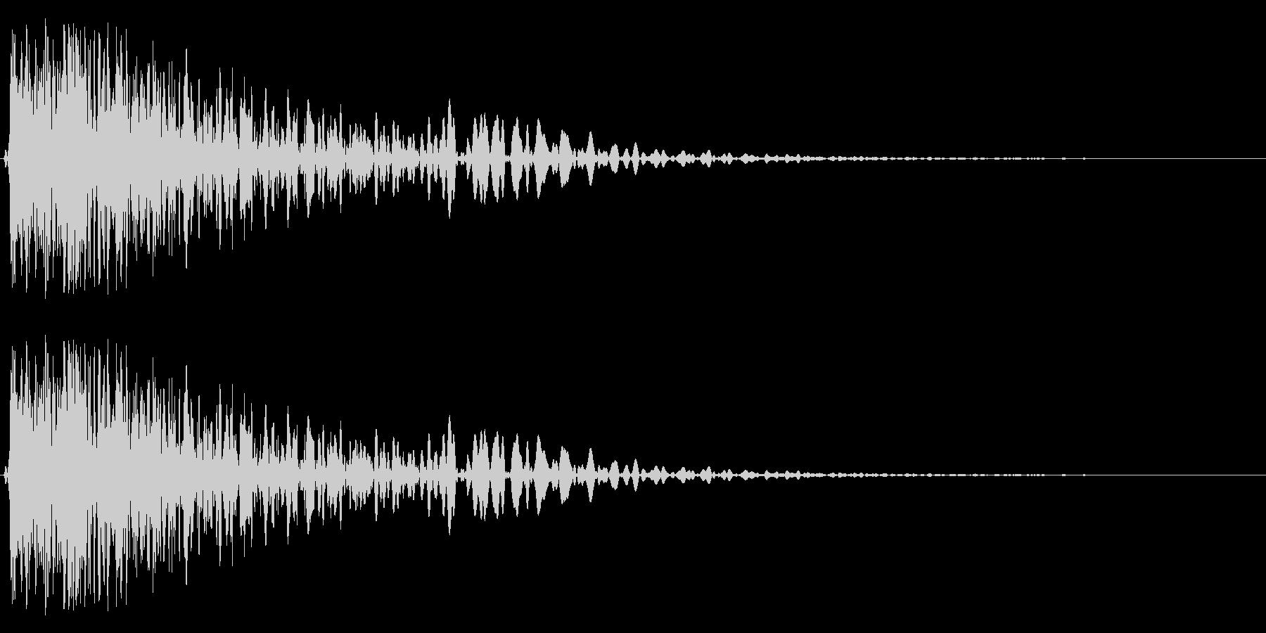 金属音(ガン、ゴン)の未再生の波形