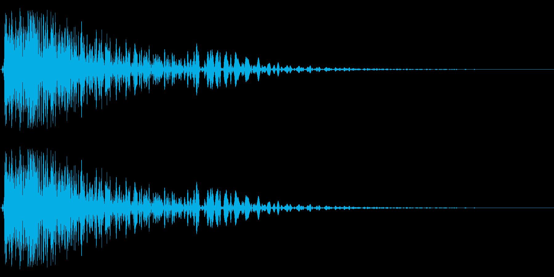 金属音(ガン、ゴン)の再生済みの波形