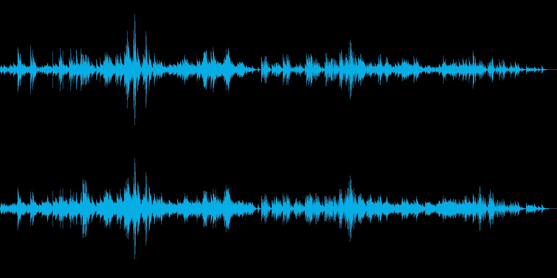 幻想的なオルゴールの再生済みの波形