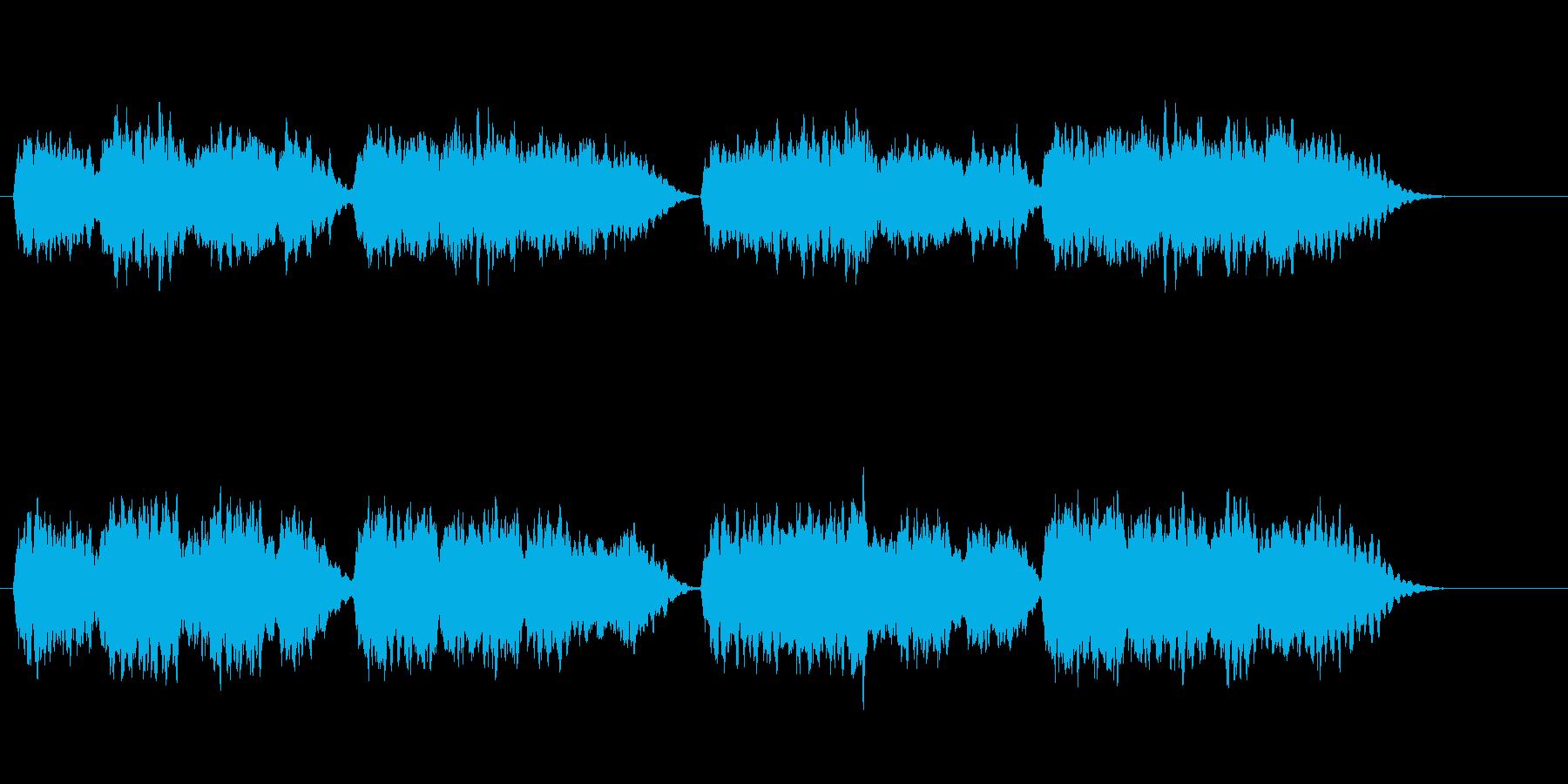 せつない感じのするオーケストラ風の曲ですの再生済みの波形
