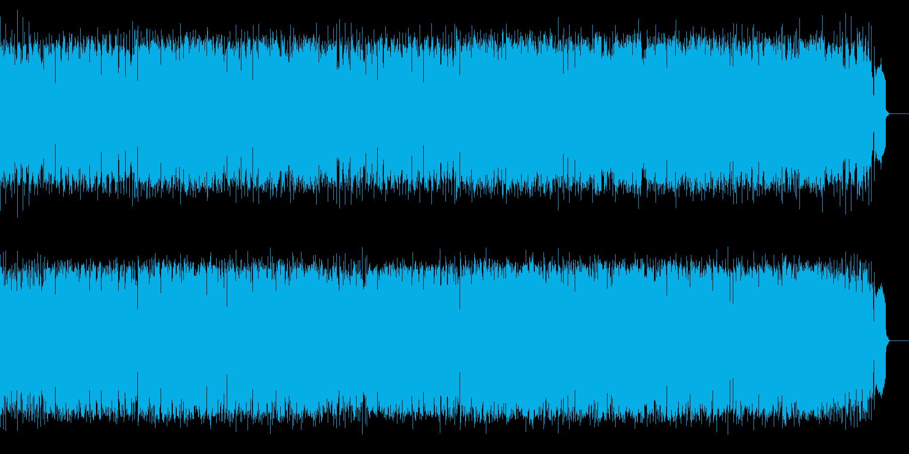 軽快なシャフルのリズム、温かなポップスの再生済みの波形