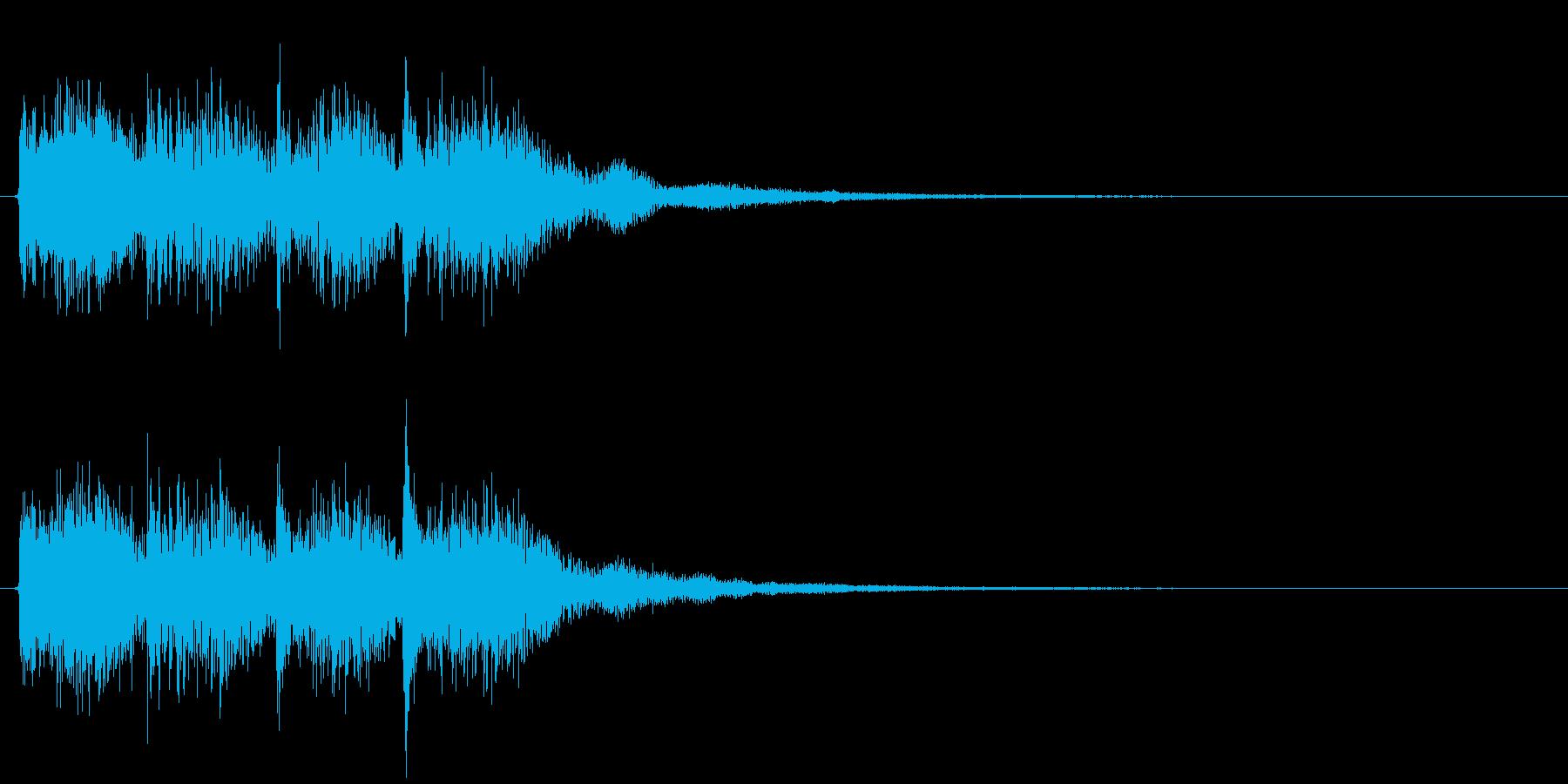 しっかりしたポジティブジングル(早め)1の再生済みの波形