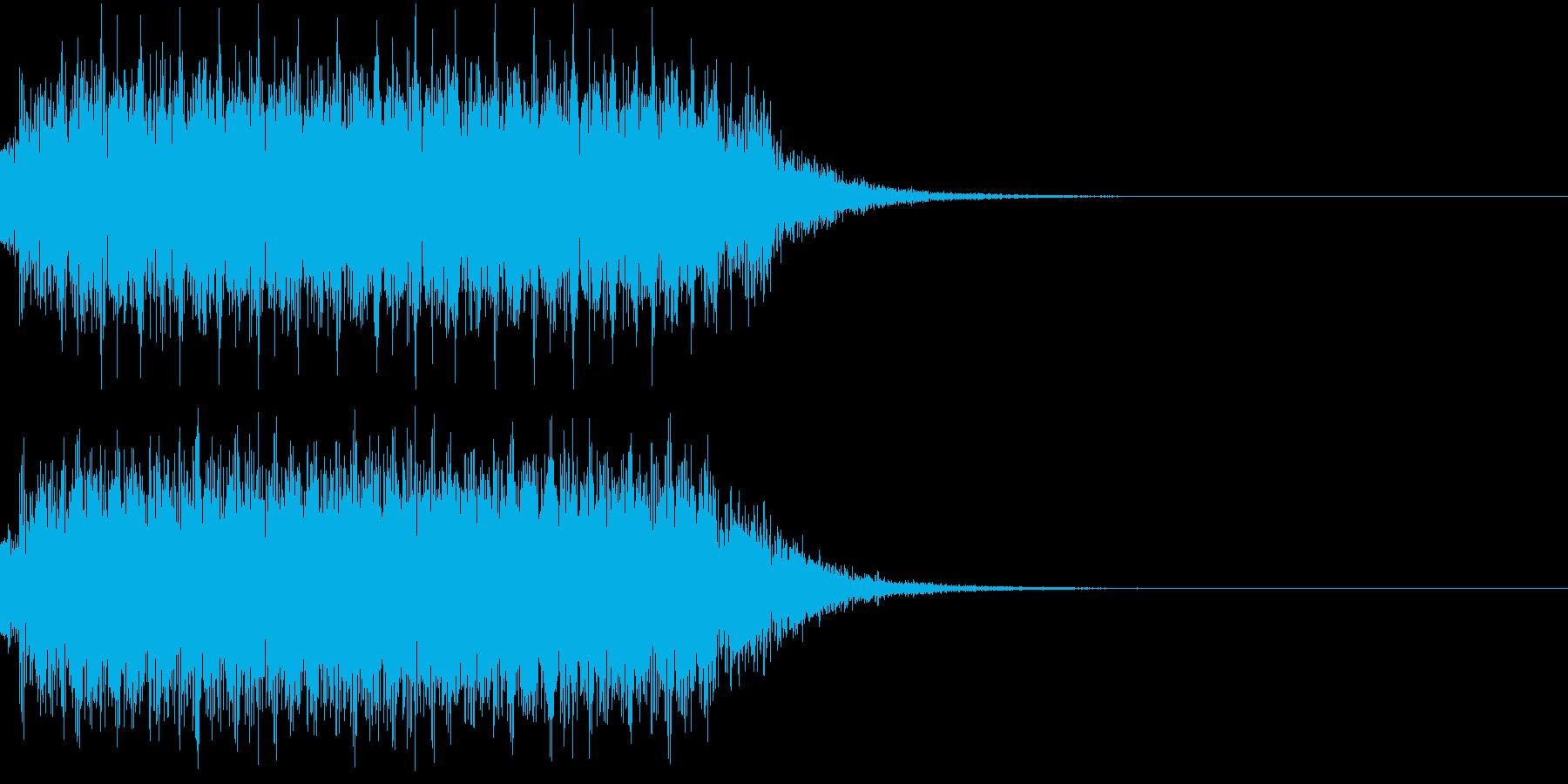 マシンガンの発砲音_その3の再生済みの波形