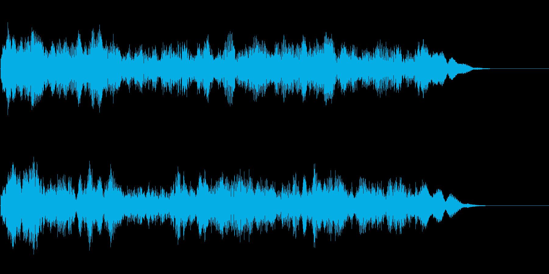 ファニーな打楽器系アイキャッチの再生済みの波形