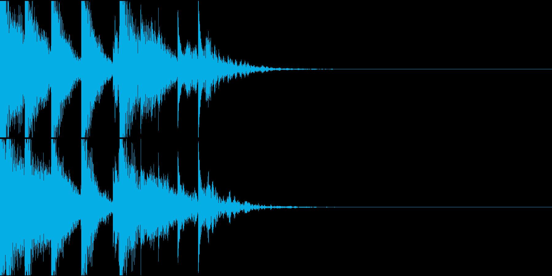 やられた時のゲームオーバー音の再生済みの波形