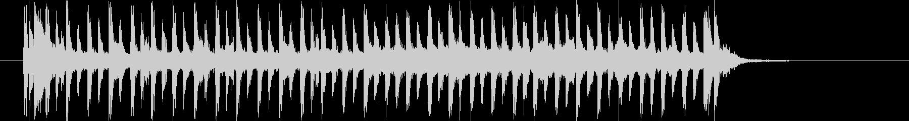 リズミカルでエレクトーンが印象的なBGMの未再生の波形