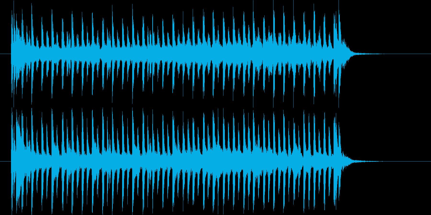 リズミカルでエレクトーンが印象的なBGMの再生済みの波形