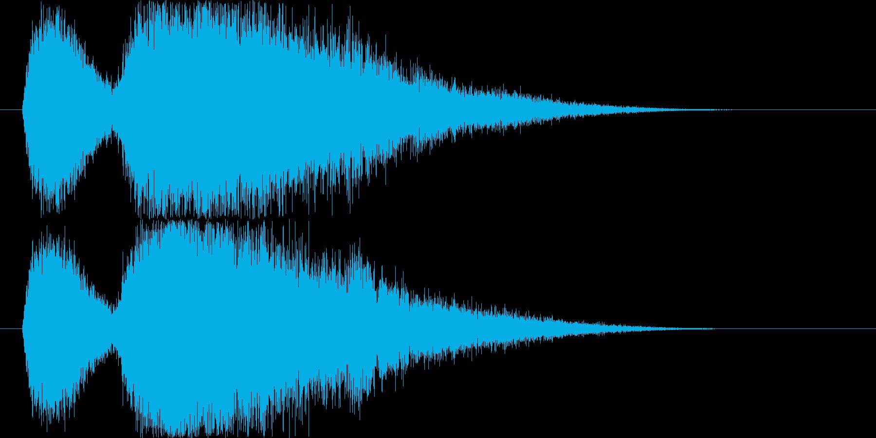 風魔法の音(突風を起こすイメージ)の再生済みの波形