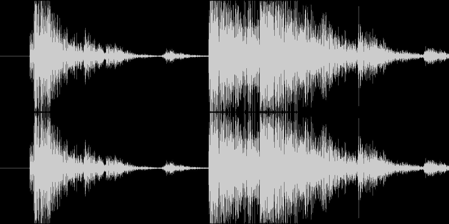 Material 工具を軽く投げ置く音の未再生の波形