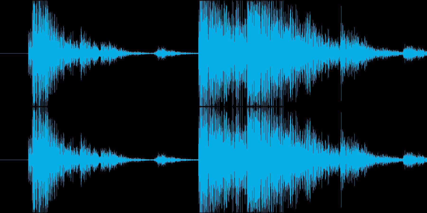 Material 工具を軽く投げ置く音の再生済みの波形