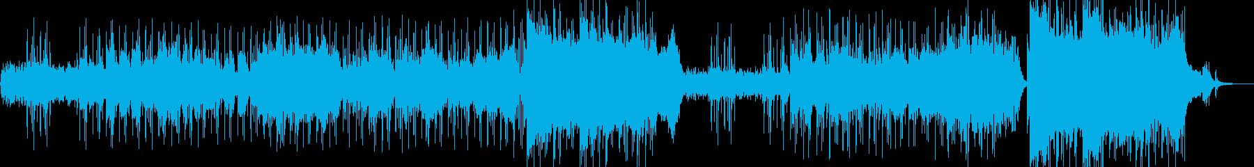落ち着くシンセとピアノの再生済みの波形
