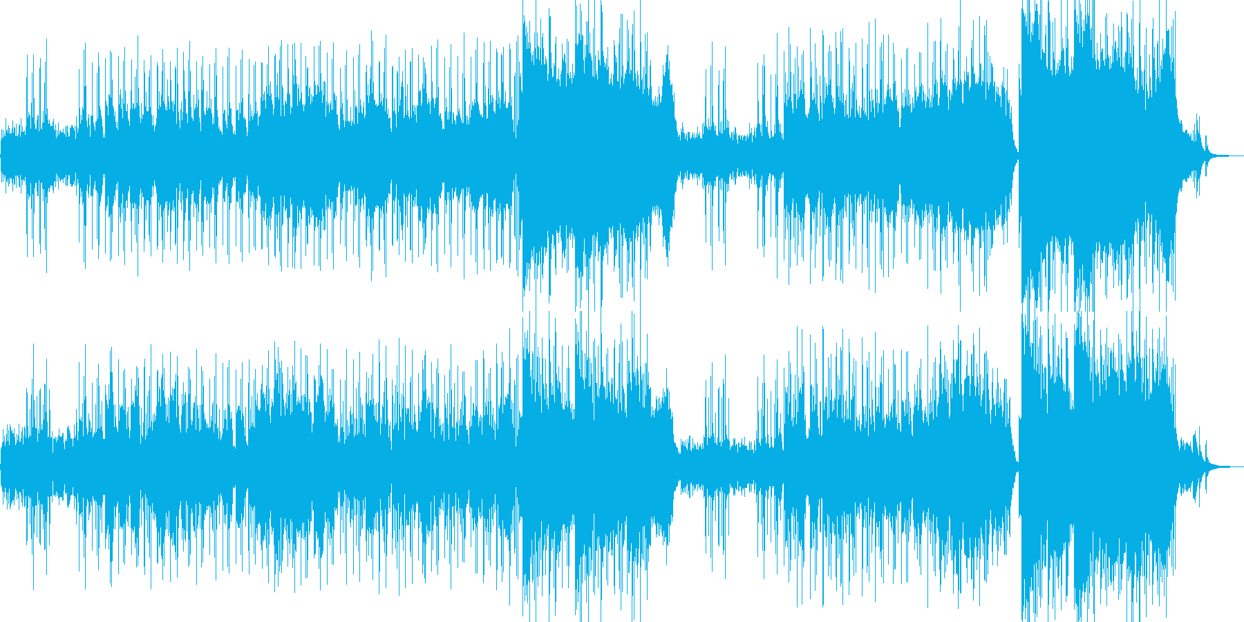 """""""""""和""""""""の音階が印象的なピアノの再生済みの波形"""