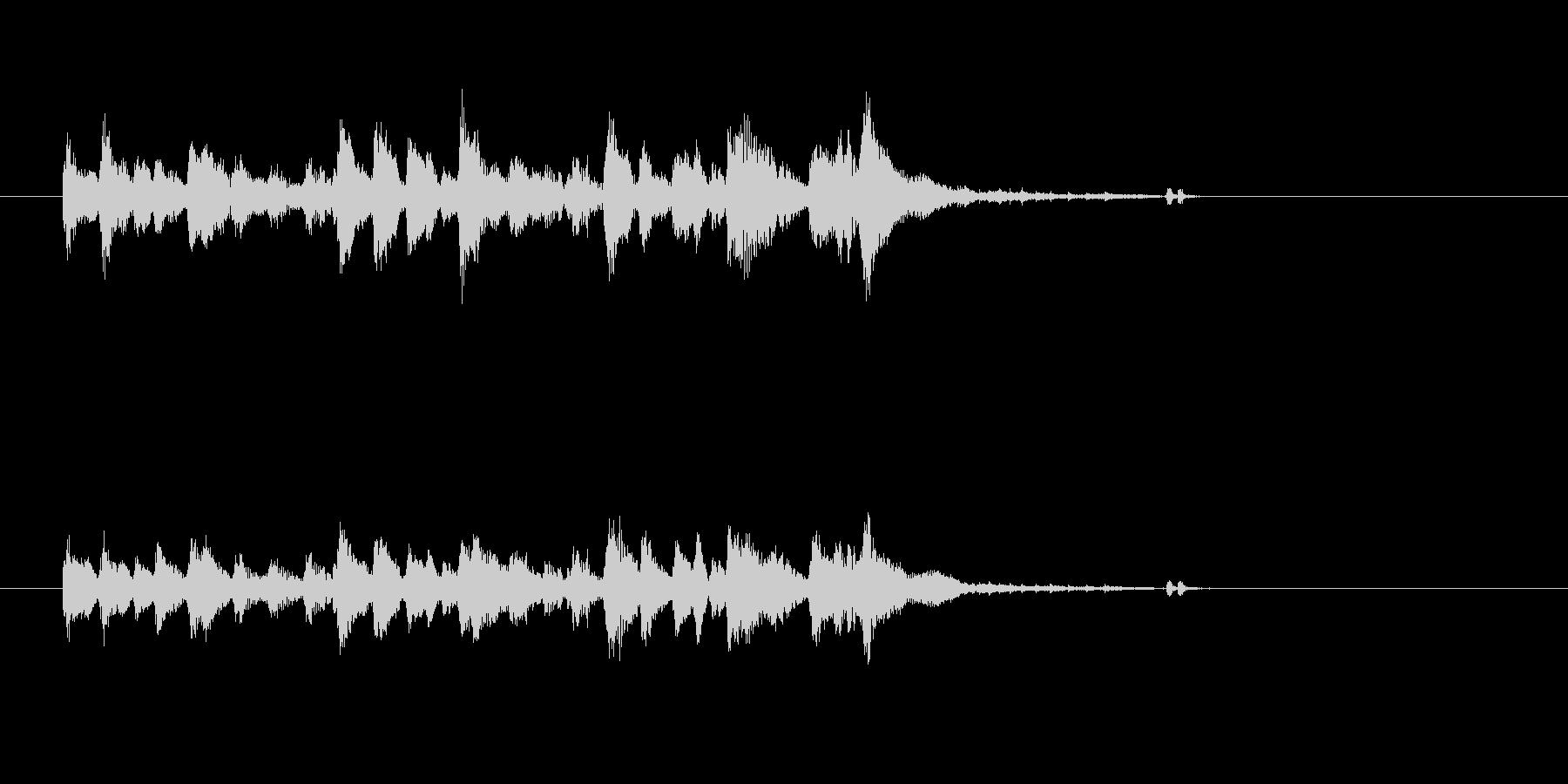 ジャズ シンセサイザー ヴィブラフォンの未再生の波形