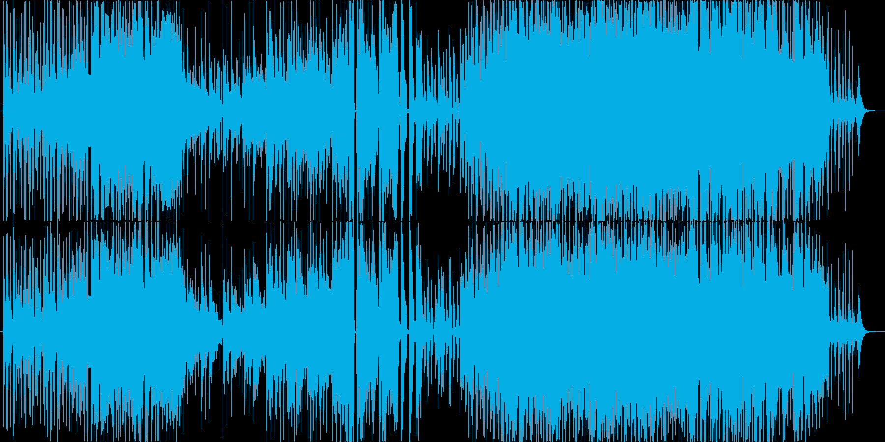 三味線主体の激しくダークな和風ロックの再生済みの波形