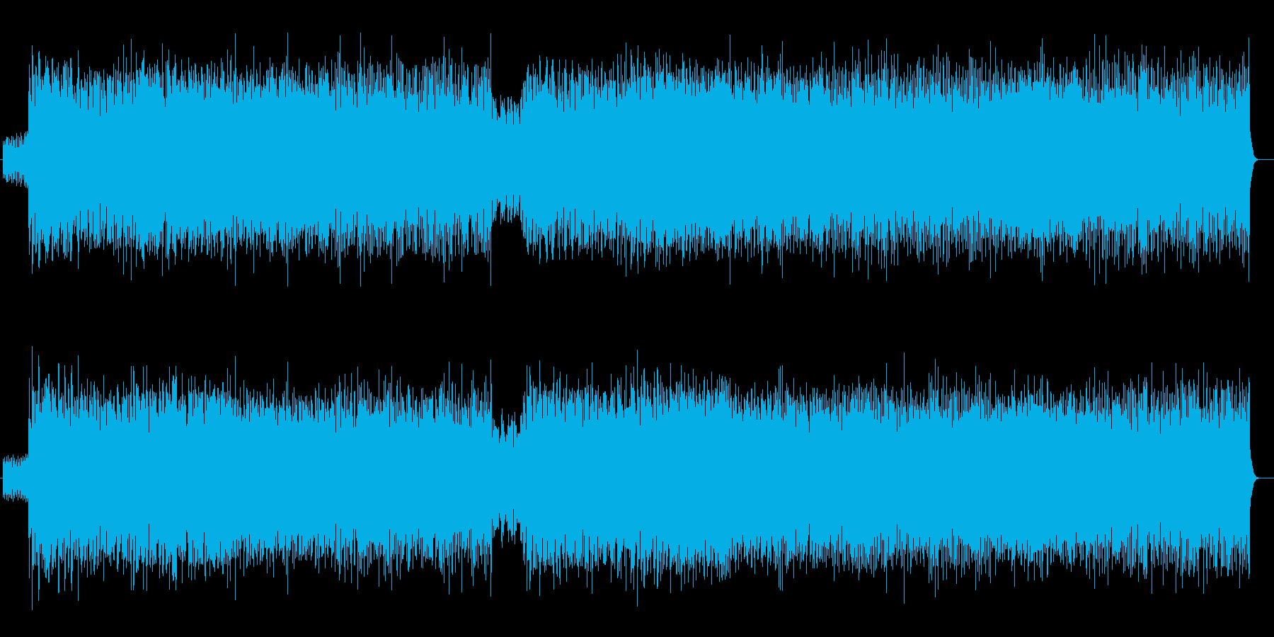 明るく愉快なシンセサイザーサウンドの再生済みの波形