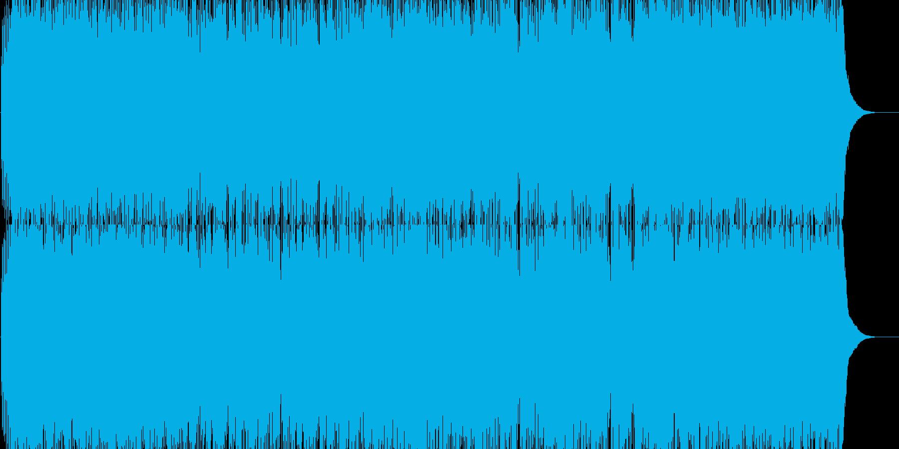 BGMを連想させる晴れやかなゲーム音楽の再生済みの波形