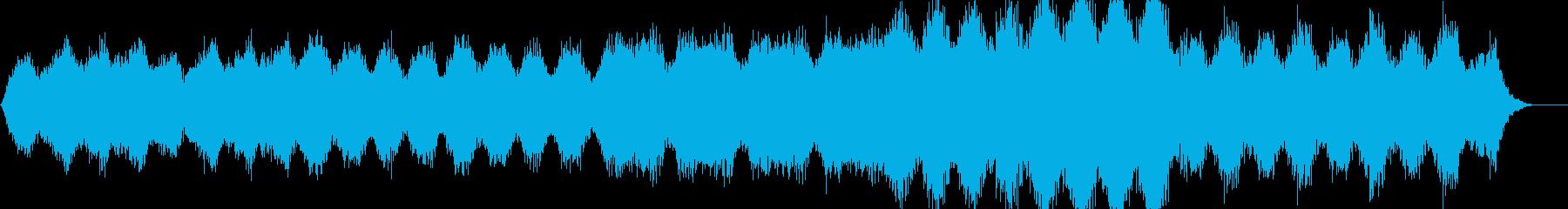 瞑想・ヒーリング的なクワイアの静かな曲の再生済みの波形