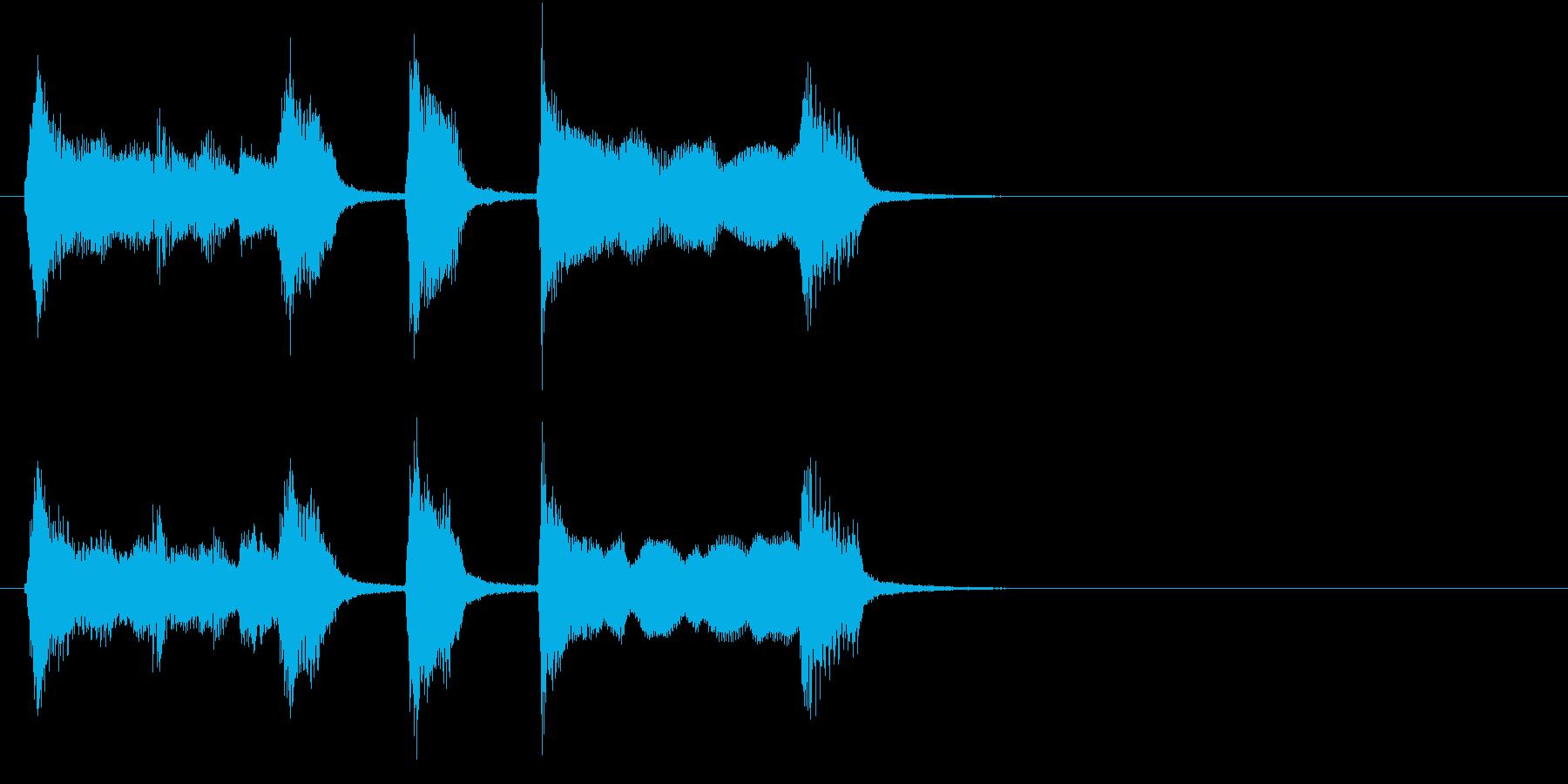 かわいくてチープなファンファーレの再生済みの波形