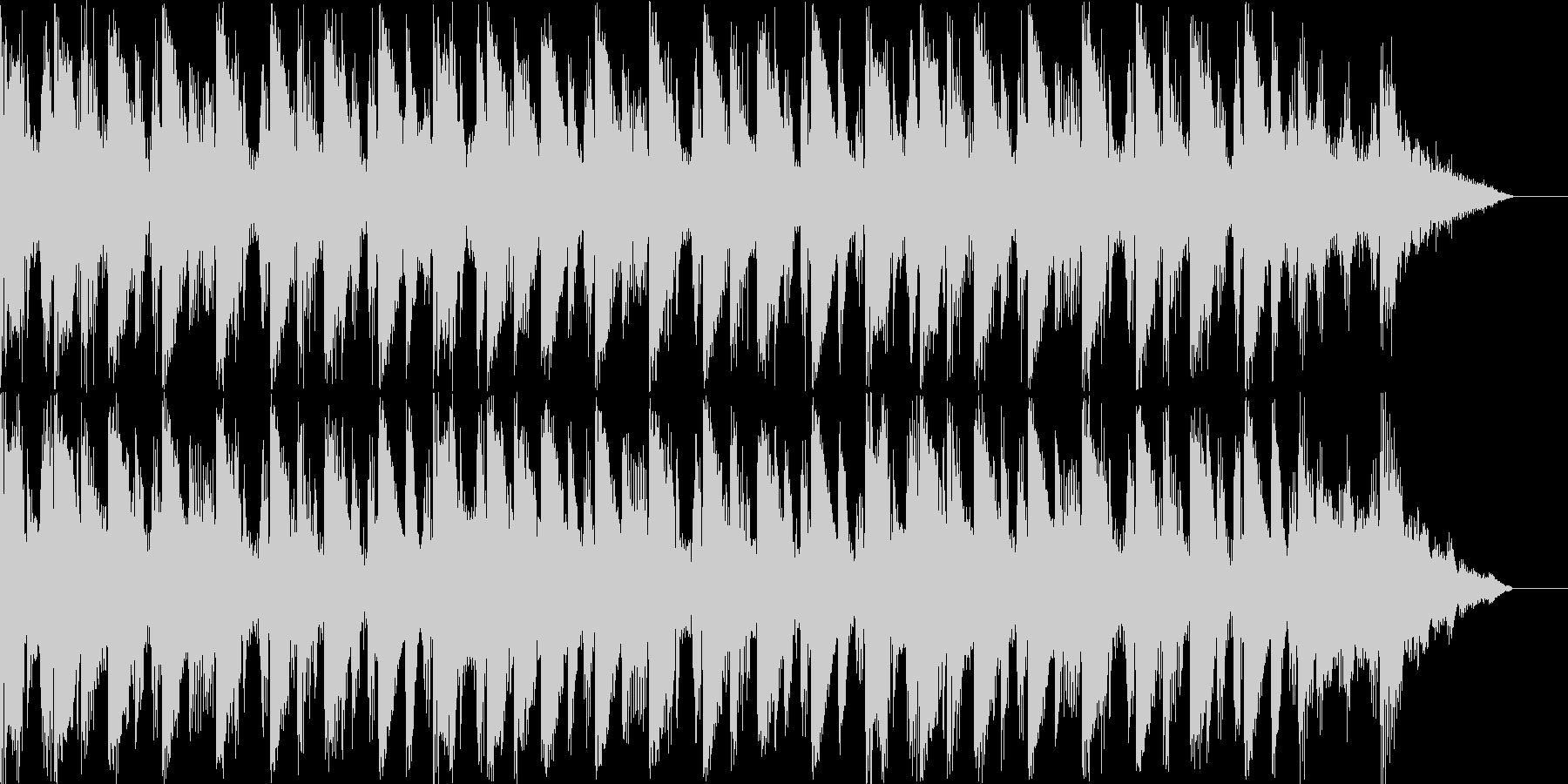 始まるという雰囲気のBGMの未再生の波形