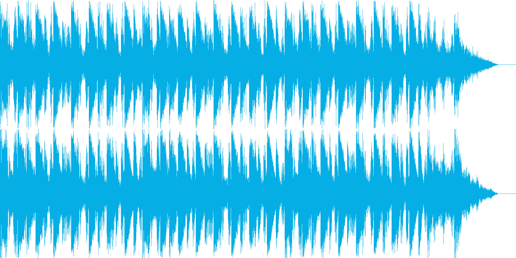 始まるという雰囲気のBGMの再生済みの波形