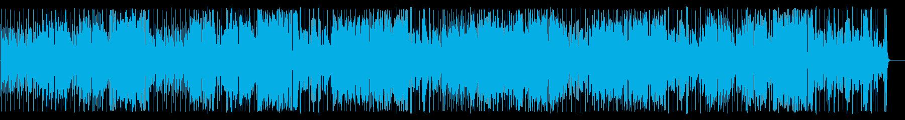 スラップベースとブラスでゴリゴリファンクの再生済みの波形