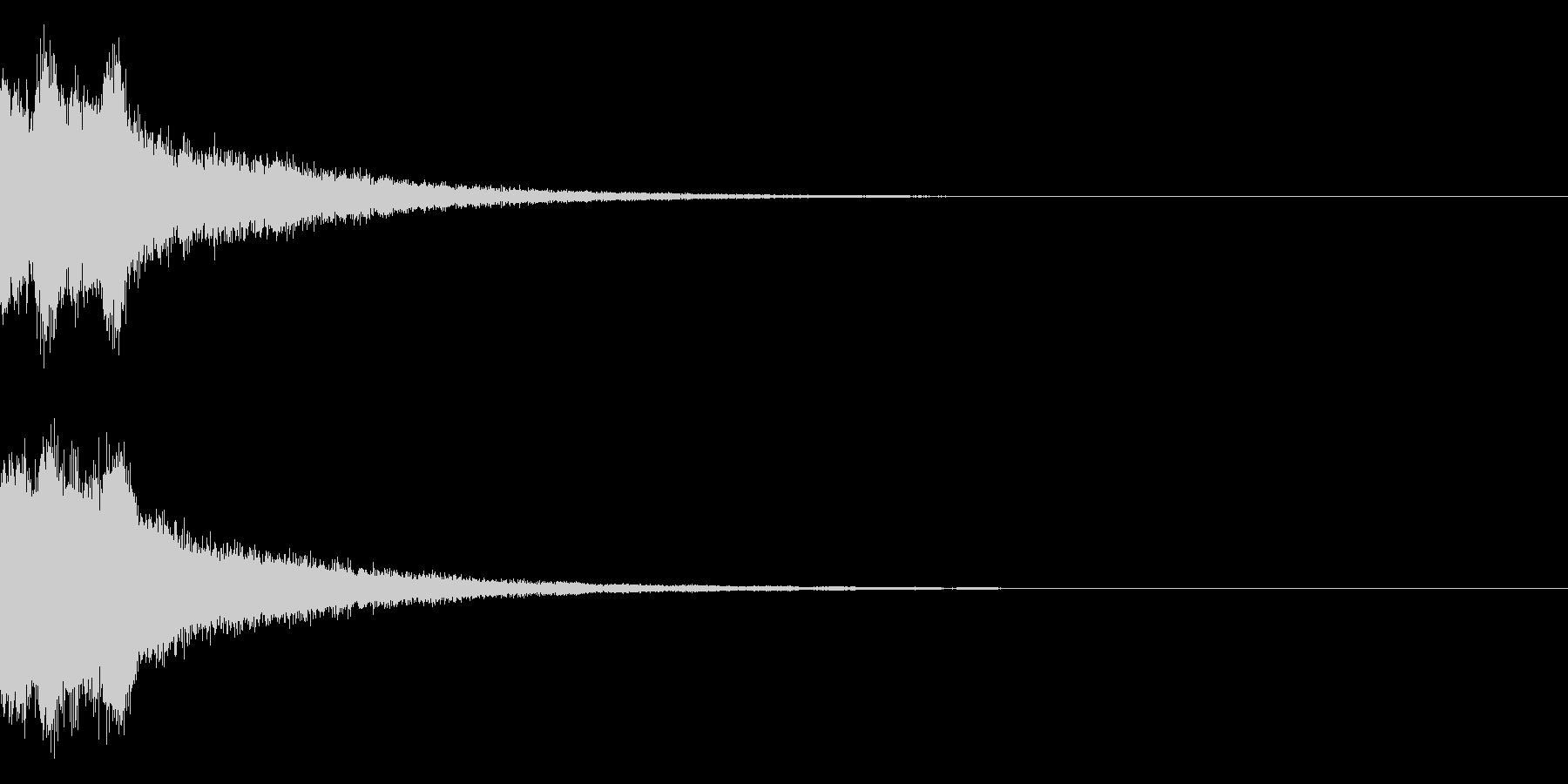 ピンポンピンポン!キラキラ光る正解音04の未再生の波形