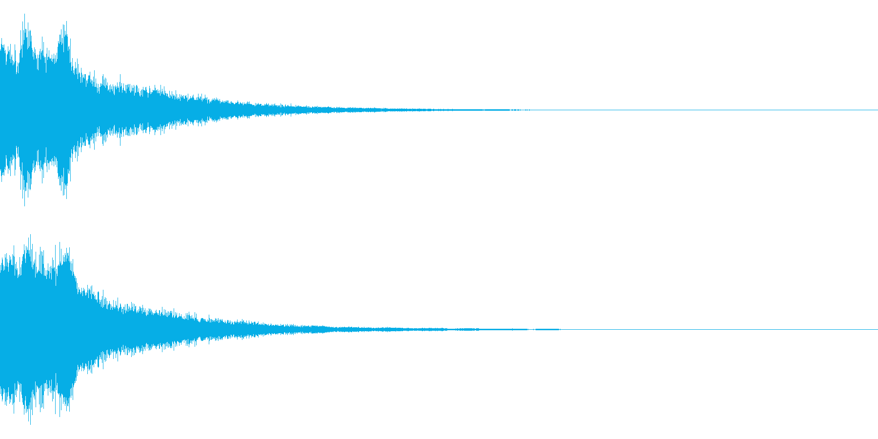 ピンポンピンポン!キラキラ光る正解音04の再生済みの波形
