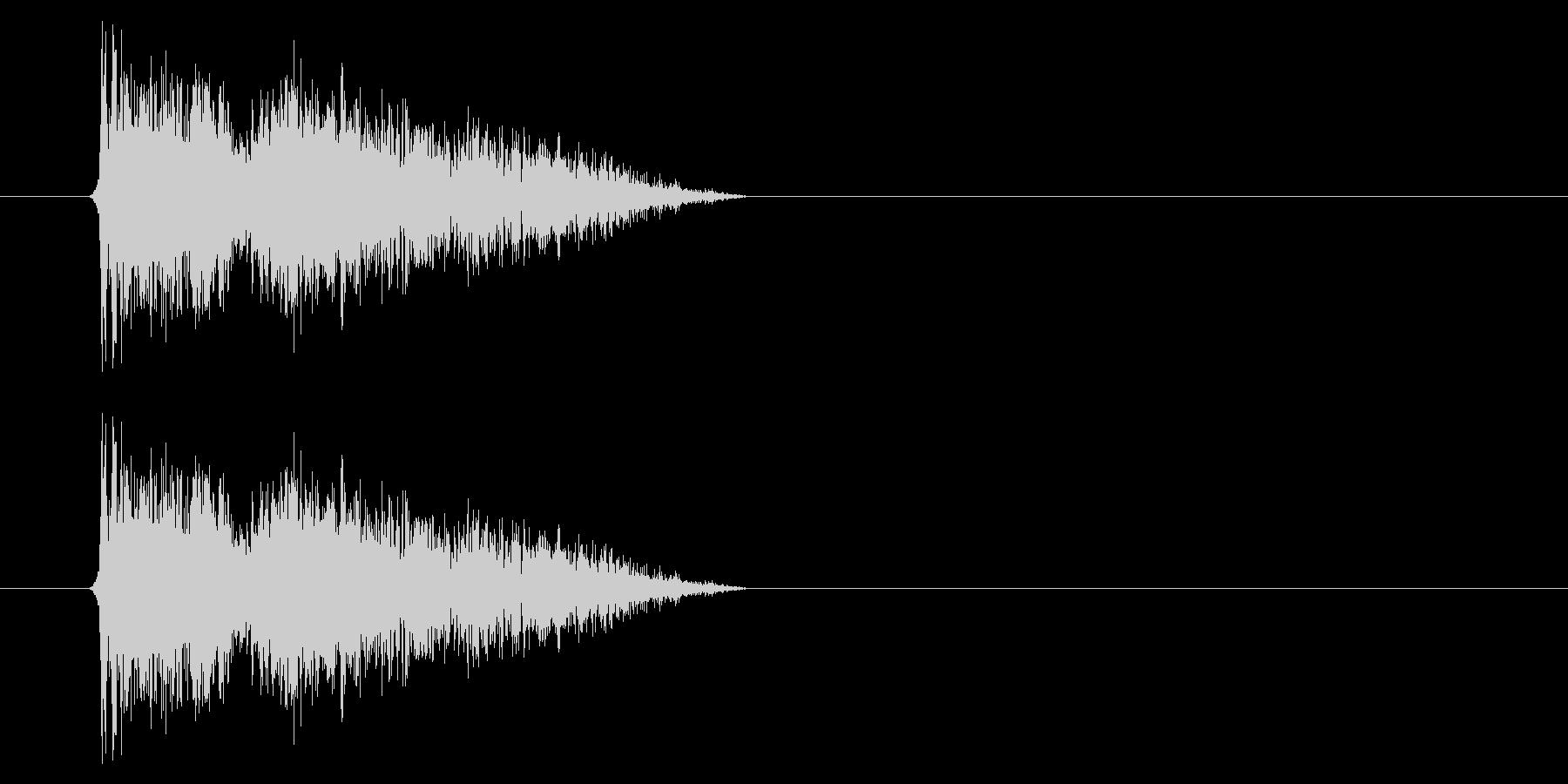 銃声01-1の未再生の波形
