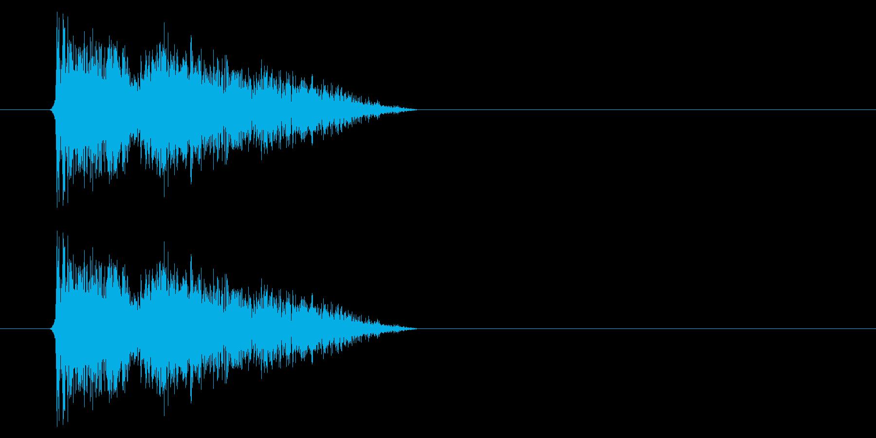 銃声01-1の再生済みの波形