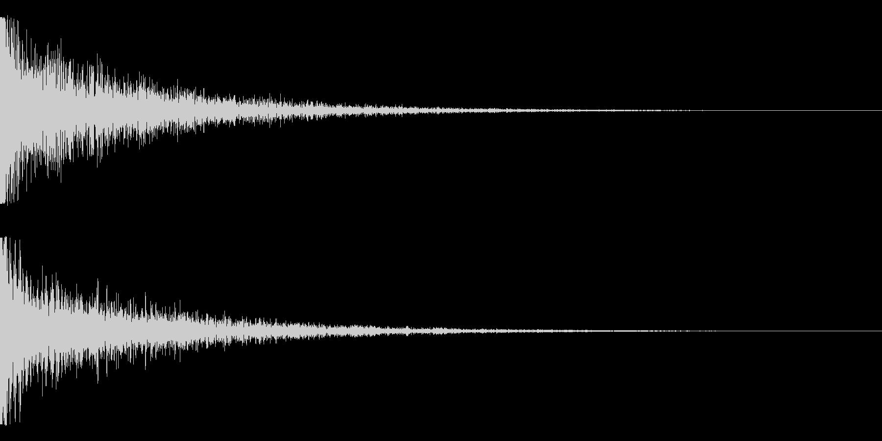 ドォンーーの未再生の波形