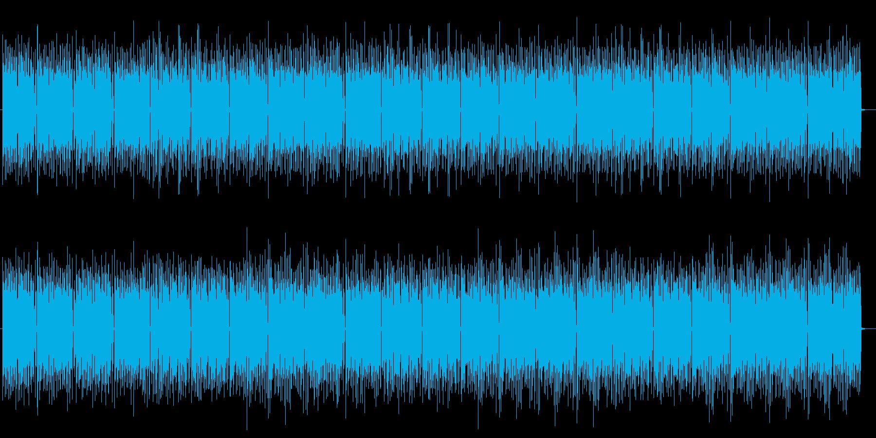 アップテンポなドラムが特徴のポップスの再生済みの波形