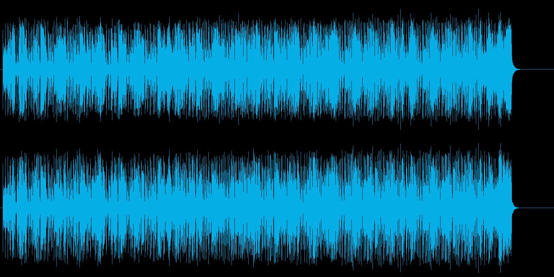 慌ただしくもアクティブなファンク/テクノの再生済みの波形