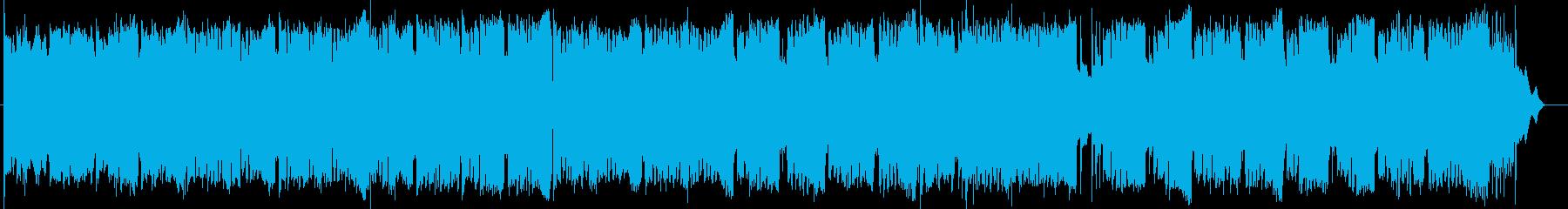 ワルツのリズムの綺麗なゴスペル風曲の再生済みの波形