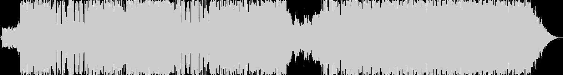 サビが印象的なROCK調のBGMの未再生の波形